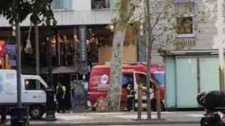 Van ploughs into Barcelona crowd
